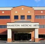 Outside entrance of the Hamilton Medical Arts building